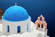 Domes Prints - Blue Church Roof Print by Brian Jannsen