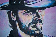 Clint Eastwood Art Paintings - Blue Clint by Ken Huber