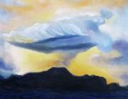 Suzanne  Marie Leclair - Blue Cloud Orange Sky