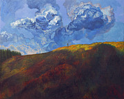 Storm Clouds Painting Originals - Blue clouds by Fernando Alvarez