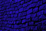 Blue Cobblestone Prints - Blue Cobblestone Print by Dana  Oliver