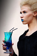 Art Product Originals - Blue coctail by Audrius Merfeldas