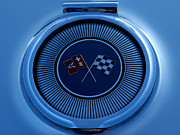 Automotive Digital Art - Blue Corvette Badge by Douglas Pittman