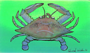 Tarpon Posters - Blue Crab  Poster by Edward Walsh