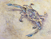 Impressionistic  On Canvas Paintings - Blue Crab by Elena Liachenko