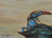 Pinchers Prints - Blue Crab Print by Patricia DeHart