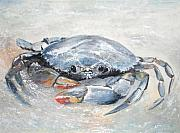 Blue Crab Paintings - Blue crab by Sibby S