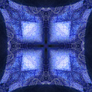 Blue Crystal Print by Joe Halinar