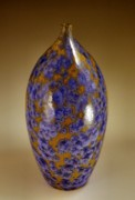 Florida Ceramics - Blue Crystalline by John OBrien