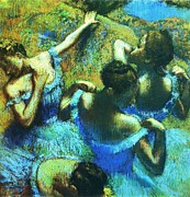 Dancers Art - Blue Dancers by Pg Reproductions