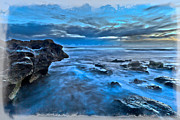 Landscape Greeting Cards Prints - Blue Dawn Print by Debra and Dave Vanderlaan