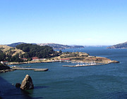 Golden Gate Photo Originals - Blue Docks by Dennis Jones