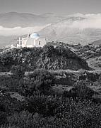 Greece Photos - Blue-domed Church in the Mountains by Royce Howland