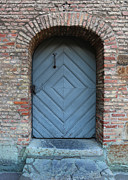 Old Doors Framed Prints - Blue Door Framed Print by Carol Groenen
