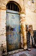Traditional Doors Metal Prints - Blue Door Metal Print by Marion McCristall