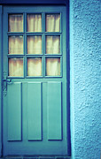 Protection Posters - Blue Door Poster by MaryWilson Photography