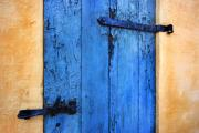 Old Door Framed Prints - Blue Door Framed Print by Robert Lacy