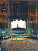 Settee Prints - Blue Drawing Room Print by DigiArt Diaries by Vicky Browning