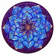 Yoga Painting Prints - Blue Dream Lotus Print by Charlotte Backman