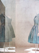 Dress Metal Prints - Blue dress Metal Print by Martine Roch