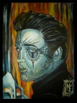 Elvis Painting Prints - Blue Elvis Print by Michael Espinosa