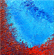 Healing Art Reliefs - Blue Emotions by Inder Sethi
