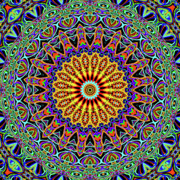 Kaleidoscope Art - Blue Eye by Ron Brown
