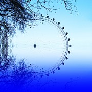 London Eye Prints - Blue eye Print by Sharon Lisa Clarke