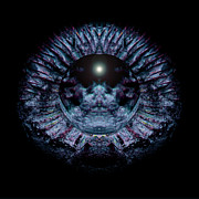 Psychedelic Photo Prints - Blue Eye Sphere Print by David Kleinsasser