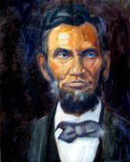 Politicians Painting Originals - Blue-Eyed Abe by Char Wood