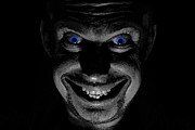 Portraits Photos - Blue eyed demon by Guy Viner