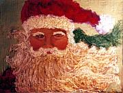 Seasonal Pastels - Blue-eyed Santa by Annette Kagy