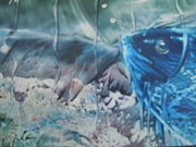Fish Underwater Paintings - Blue Eyes by Terry Sussman