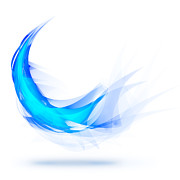 Wave Digital Art - Blue Feather by Setsiri Silapasuwanchai