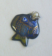 Hand Made Jewelry - Blue Fish by Asya Ostrovsky