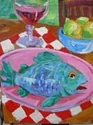 Thomas OMara - Blue Fish Pink Plate