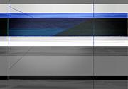 Blue Flag Print by Naxart Studio