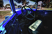 Michael Digital Art Posters - Blue Ford Interior Poster by Michael Thomas