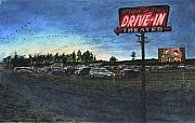 Drive-in Posters - Blue Fox Poster by Perry Woodfin