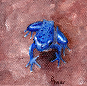 Dart Paintings - Blue Froggy by Brenda Thour