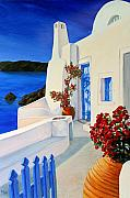 Stucco Paintings - Blue Gate by Patrick Parker