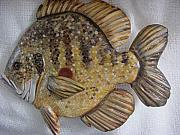 Marine Reliefs - Blue Gill number two-SOLD by Lisa Ruggiero