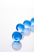 Blue Glass Balls With Regularity Print by Toshiro Shimada