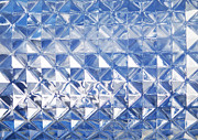 Diamond Photo Prints - Blue glass texture Print by Blink Images