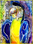 Parrot Art Mixed Media - Blue Gold Macaw by M C Sturman
