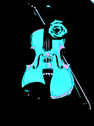 Violin Prints - Blue Grass Fiddle Print by Marsha Heiken