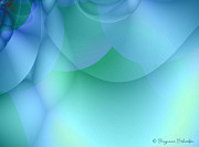 Fractal Design Framed Prints - Blue Green Abstract Framed Print by Suzanne Schaefer