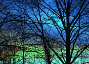 Devon Stewart Art - Blue Green Sky by Devon Stewart