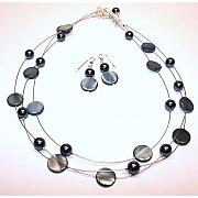 Handcrafted Jewelry - Blue-Grey Windsor by Kelly DuPrat