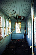 Rural Decay Posters Photos - Blue Hall by Larysa Luciw